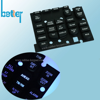 Customize Elastomer Rubber Silicone Laser Etched Keypad