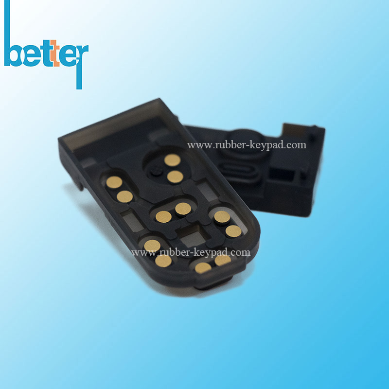 Silicone Rubber Keypad with Gold Pills