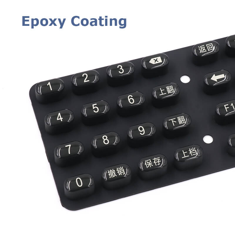 Custom Rubber Keypad Keyboard Guide
