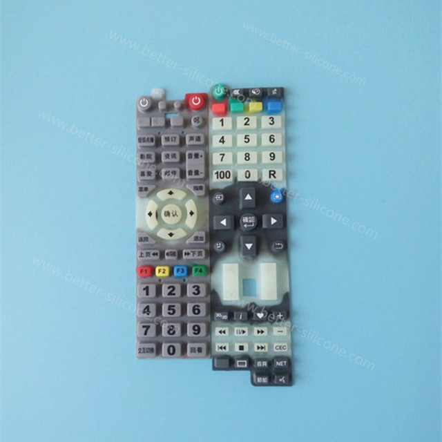 Custom Silkscreen Printing Silicone Rubber Keyboard