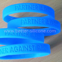 Debossed Silicone Rubber Wristband