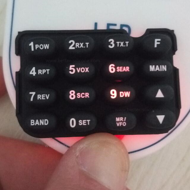Rubber Backlit Keypad for LED Switches