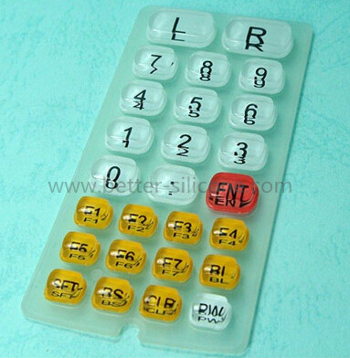 Elastomer Silicone Rubber Epoxy Keypad