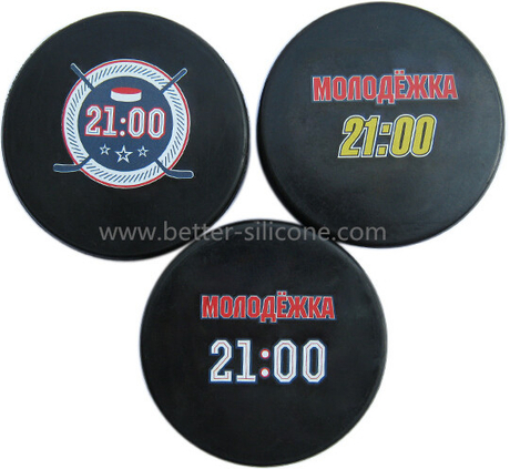 Silicone Rubber Ice Hockey Puck